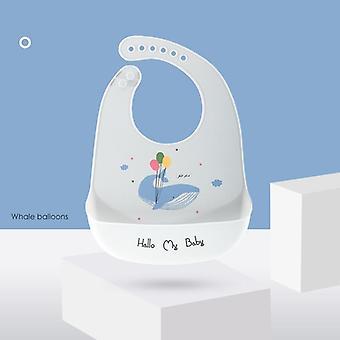 Cute Cartoon Print Baby Bibs Waterproof Soft Silicone Baby Feeding Stuff
