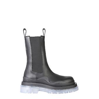 Bottega Veneta 630297vbs501026 Women's Black Leather Ankle Boots