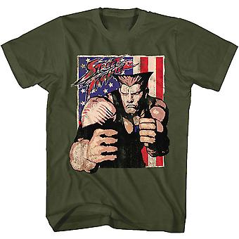 Street Fighter Guile With Flag T-shirt