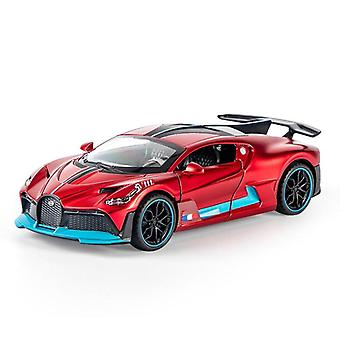 Super Sports Car Model Toy, Die Cast Pull Back Sound Light Vehicle