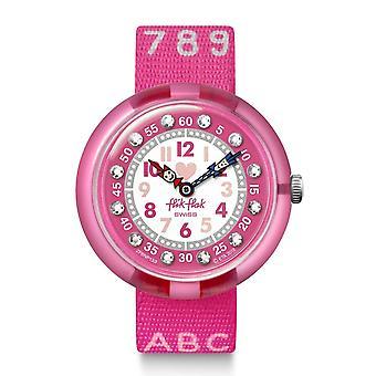 Flik Flak Fbnp133 Pink Ab34 Textile Alphabet & Numbers Watch
