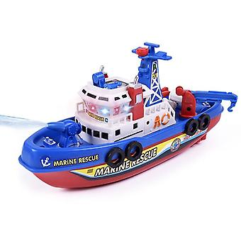 Rc Boats Remote Control Ship, High Speed Music Light Electric Marine Rescue