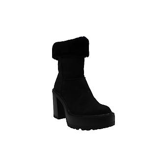 Madden Girl Women's Shoes Kayla Faux Fur Closed Toe Mid-Calf Fashion Boots