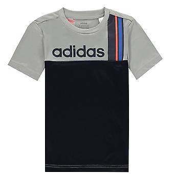 adidas Stripe T Shirt Junior Boys