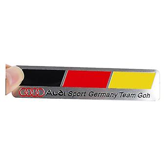 Germany Flag Team Goh Audi Sport Boot Side Wing Fender Badge Emblem For A1 A3 S3 RS3 S4 RS4 A5 S5 RS5 A6 S6 RS6 A7 S7 RS7  RS8  Q7 Q8 TT R8