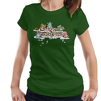 Hoito Karhut Joulu Iloinen Joulu Candy Cane Women's T-paita