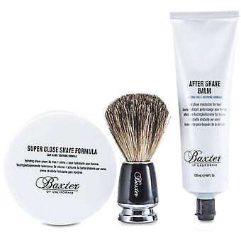 Shave 1.2.3 parranajo sarja-blaireau/CR me AJET ja sen jälkeen Shave