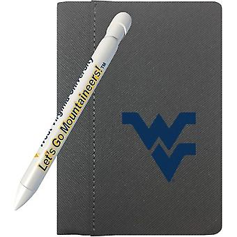 """1163M, Greeting Pen West Virginia Mountaineers 4"""" X 6"""" Notebook And 1 Rotating Message Pen Set (1163M)"""