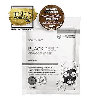 Beauty Pro Black Peel Charcoal Mask 3x7g