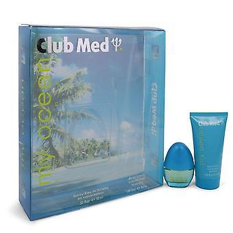 Club Med My Ocean Gift Set By Coty .33 oz Mini EDT Spray + 1.85 oz Body Lotion