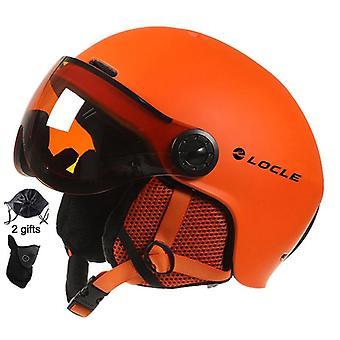 Men-women Ski Helmet, Winter Sports Skiing Snowboard With Goggles Mask Snow