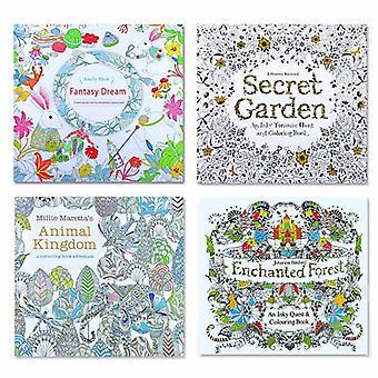 Animal Kingdom, English Edition Coloring Book For, Adult, Relieve Stress, Kill