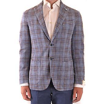 L.b.m. Ezbc215033 Men's Blue Wool Blazer