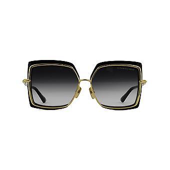 DITA Narcissus DTS503 01 Black-Yellow Gold/Dark Grey Gradient Sunglasses