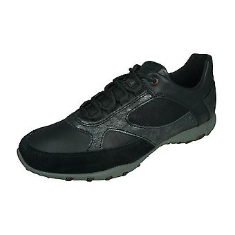 Geox D Freccia A Womens Fashion Trainers / Shoes  - Black