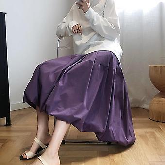 A-line Tomurcuk Etek, Sonbahar Güzel Gevşek Vintage Altları Kadın Kıyafetleri
