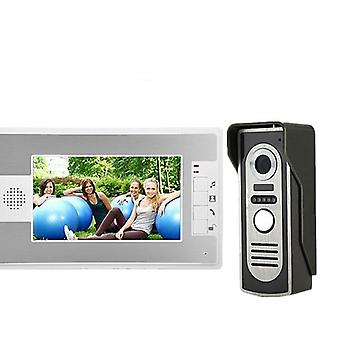Video Intercom System Doorbell Night Vision Ir Camera Waterproof Unlock