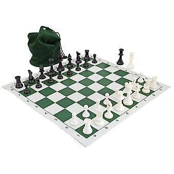 Schaakbord school toernooi groen