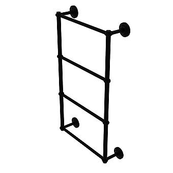 Que New Collection 4 Tier 24 Zoll Leiter Handtuch bar mit twisted Detail - Qn-28T-24-Bkm