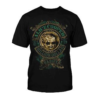 Alice Cooper Kids T Shirt Black Billion Dollar Babies band Official Size 5-13yrs