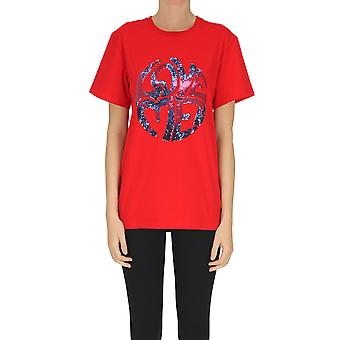Alberta Ferretti Ezgl095078 Frauen's rote Baumwolle T-shirt