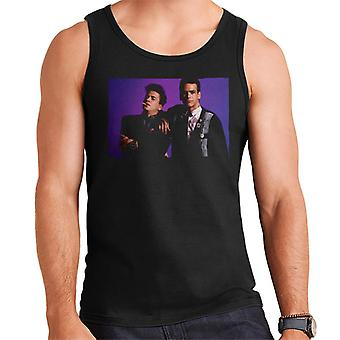 Weird Science Ian And Max Purple Background Men's Vest