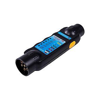 7 Pin Towing Trailer Tow Bar Caravan Light Wiring Circuit Tester Plug+socket