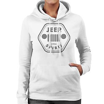Jeep 1941 Spirit Logo Women's Hooded Sweatshirt