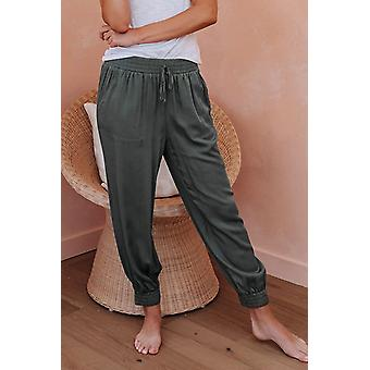 Casual Green Pocketed Joggers