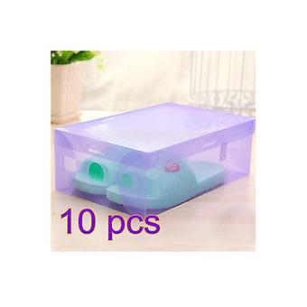 Plastic Foldable Clear Shoe Storage Boxes