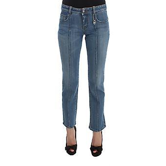 Kostüm National Blue Cotton Slim Fit Abgeschnittene Jeans