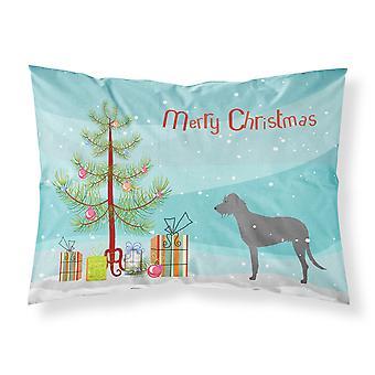 Caroline'S Tesoros árbol de Navidad Irlandés Wolfhound Merry Fabric Funda de almohada estándar Bb2921Pillowcase