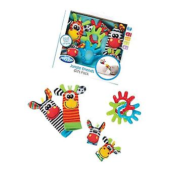 Playgro jungle friends teether gift pack