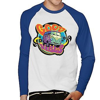 ピクサーカーズフィルモアグッドバイブスメン&アポス;s野球ロングスリーブTシャツ