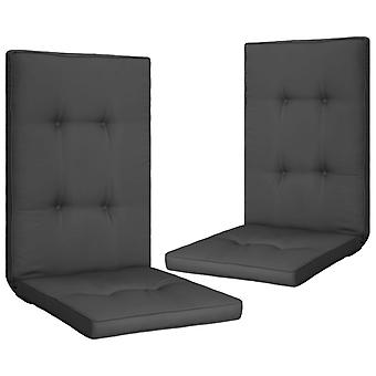 vidaXL hage stol utgave 2 stk. anthracite 120 x 50 x 5 cm