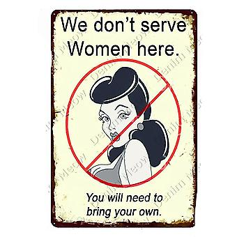 Woman Cave Plaque Welcome To My She Shed Vintage Metal Sign