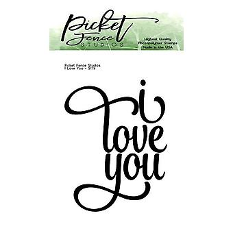 Picket Fence Studios I Love You 2x3 Inch Clear Stamps