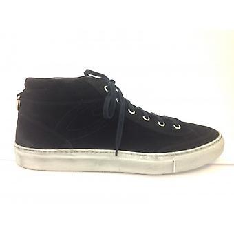 Men's Shoes Sneaker Guardians Sport Model Tudor Black Suede U14ag04