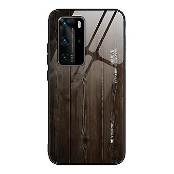 For huawei p20 p30 p40wood grain glass all inclusive anti-drop protective case