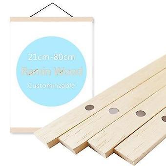 Magnetic Poster Hanger, Solid Pine, Teak Wooden Hanging Frames For Photo,