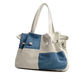 Naisten kangas käsilaukku kontrasti väri rento messenger olkalaukku tote musta / sininen / harmaa / punainen