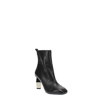 Kurt Geiger   Leather Square Toe Ankle Boots
