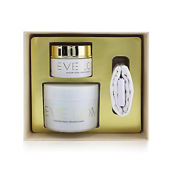 Begin & end gift set: cleanser 200ml/6.8oz + moisture cream 50ml/1.6oz + muslin cloth 260829 3pcs
