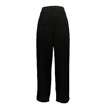 Susan Graver Women's Pants Liquid knit Palazzo Black A383169
