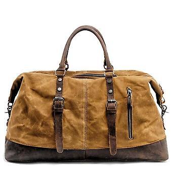 Muchuan män reser väskor m handbagageväskor canvas läder resa duffel väskor axelväskor stor kapacitet helg över natten