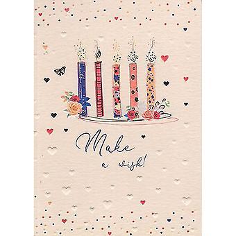 ICG Ltd Pretty In Peach Birthday Card-candles