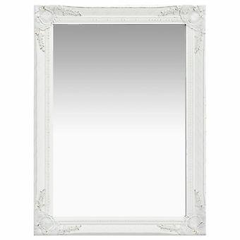 vidaXL miroir mural de style baroque 60 x 80 cm blanc