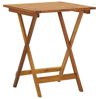 vidaXL Folding garden table 60x60x75 cm solid wood acacia