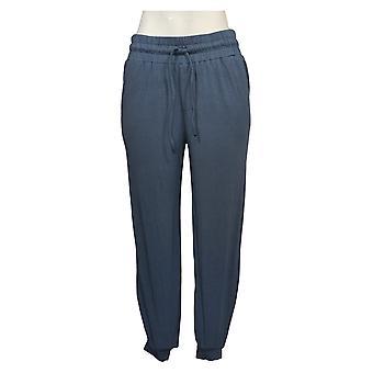 AnyBody Women's Pants XSP Petite Cozy Knit Jogger Blue A286476