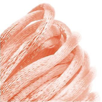 Final Sale - Rayon Satin Rattail 2mm Cord - Knot & Braid - Light Peach (6 Yards)